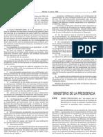 Orden PRE-525-2005 Medidad Para Favorecer La Igualdad