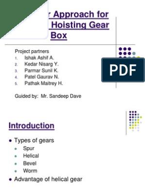 Gearbox Design Ppt