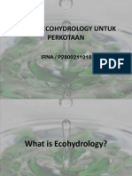 Ecohydrology Untuk Perkotaan ( Irna -Tpp )