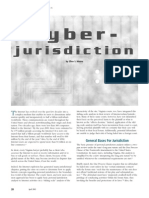 Cyber Jurisdiction
