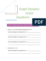 Graph Dynamic Linear Equations Student Handout
