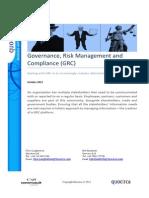 Governance, Risk Management and Compliance (GRC)