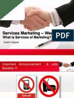 Week 2 Services Marketing