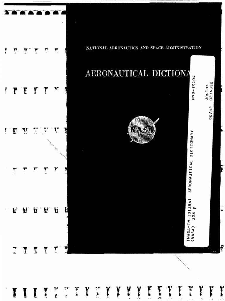 Naca Tm 101286 Aeronautical Dictionary Aerodynamics Aircraft How To Make A Kite Diagram Ehow Uk