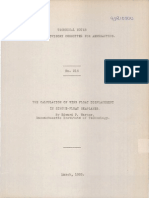 NACA TN 215 the Calculation of Wing Float Displacement in Single-float Seaplanes