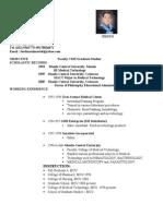 Curriculum Vitae of Ferdinand Mortel