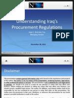 4 Jorge Iraq Procurement Laws Presentation 2012-11-27