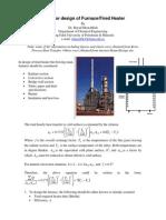 Furnace Heater Design