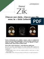 Parrot Zik Gold Collection (FR)