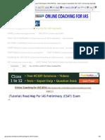 (Tutorial) Road Map for IAS Preliminary (CSAT) Exam _ UPSCPORTAL - India's Largest Community for IAS, CSAT, Civil Services Aspirants
