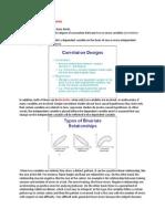 Correlation Research Designs
