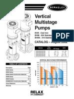 Berkeley Vertical Multi Stage Pumps Catalog 08 02