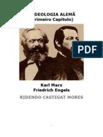 A Ideologia Alemã (primeiro capitulo) - Karl Marx