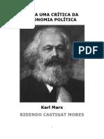 Para uma Crítica da Economia Política - Karl Marx