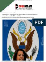 Diplomática expulsada de Venezuela actuó como agente reclutador de la CIA en Cuba