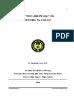 Metodologi Penelitian Pendidikan Biologi