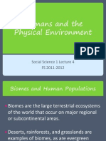 Lecture 4_Humans and the Physical Environment