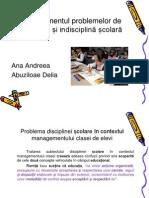 Managementul Clasei de Elevi - Ppt