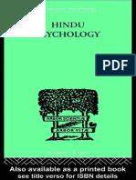 (International Library of Psychology_ Psychology and Religion 1) Swami Akhilananda-Hindu Psychology _ Its Meaning for the West (International Library of Psychology)-Routledge (2001)