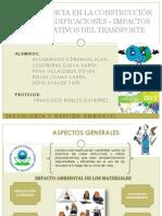 ECOEFICIENCIA EN LA CONSTRUCCIÓN Y USO DE EDIFICACIONES - IMPACTOS SIGNIFICATIVOS DEL TRANSPORTE
