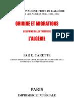 Origine Migration Tribus Algerie