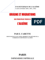 Origine Migration Tribus Algerie