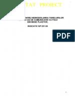 NE 031 - 2004 Hidroiz Tuneluri Cu Folli Din Mase Plastice