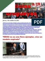 Noticias Uruguayas Jueves 3 de Octubre Del 2013