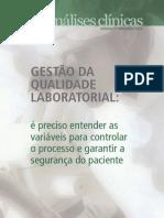 GESTÃO DA QUALIDADE LABORATORIAL