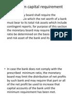 Minimum Capital Requirement..6