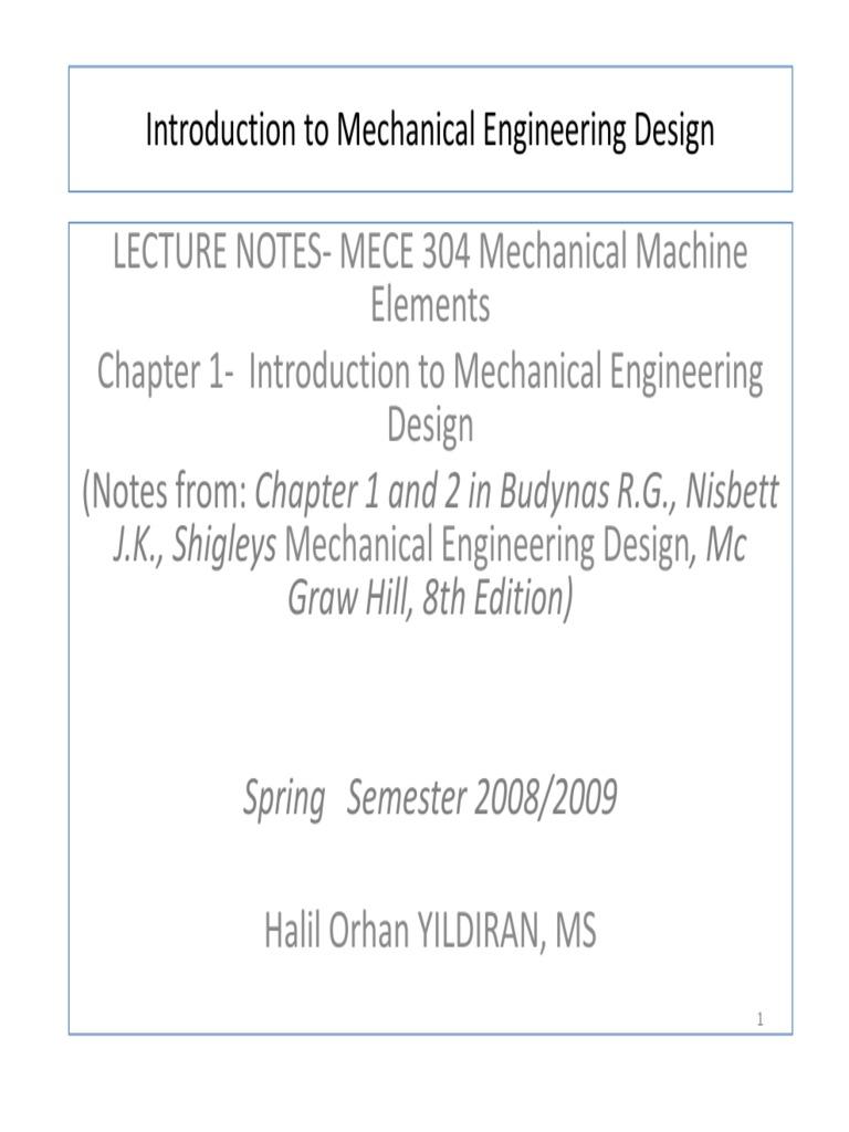 Machine Design Engineering Tolerance Engineering Design Process