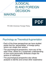 Psychological Factors and Foreign Policy Decision-Making