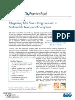 Integrating Bike Share Programs Into Sustainable Transportation System Cpb Feb11