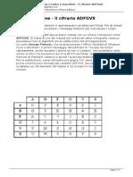 Solo Quello Che Ti Interessa-Codici e Macchine - Il Cifrario ADFGVX
