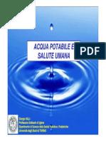 Acqua Potabile e Salute Umana