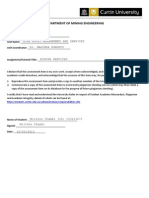 Mine Asset Management Assignment