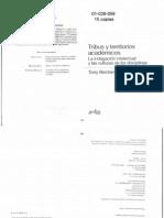 01-026-056 BECHER, T - Tribus y territorios académicos