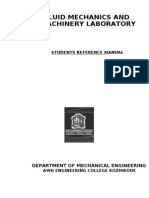 Fluid Mechanics and Machinery Laboratory