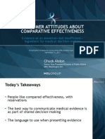 Consumer Attitudes About Comparative Effectiveness