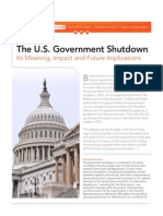 The U.S. Government Shutdown