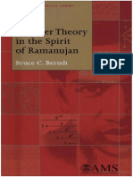 Bruce Berndt's Number Theory in the Spirit of Ramanujan AMS 2006