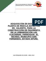 ADQUISICIÓN EN BOCA DE PLANTA DE MEZCLA ASFALTICA