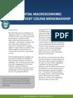 Potential Macroeconomic Impact of Debt Ceiling Brinkmanship
