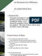 Hillslopes L05 ContinuumMechanics p4 Conservation Laws