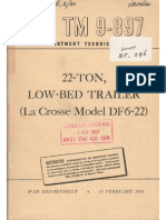 Tm 9-897 22-Ton Low-bed Trailer La Crosse Df6-22