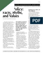Fact Myth public policy quiz