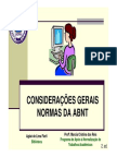 Abnt Consideracoes Gerais