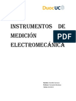 Instrumentos de medición  electromecánica