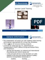 Drug Alcohol Awareness-Supervisor Training