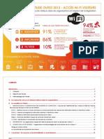Etude Olfeo 2013 Acces WiFi Visiteurs